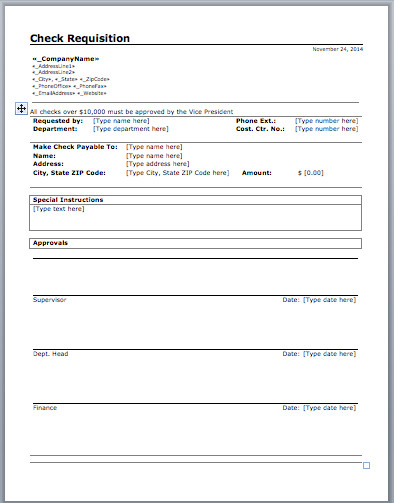 Microsoft Office Check Template Check Requisition Template Microsoft Fice Templates