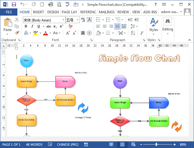 Microsoft Office Flowchart Templates Flowcharts In Word