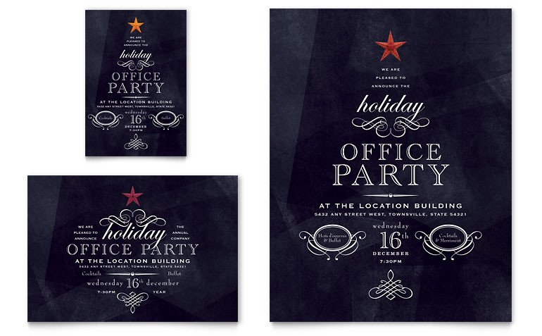 Microsoft Office Invitations Templates Fice Holiday Party Flyer & Ad Template Word & Publisher