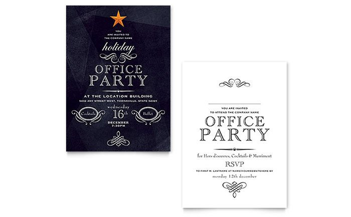 Microsoft Office Invitations Templates Fice Holiday Party Invitation Template Word & Publisher