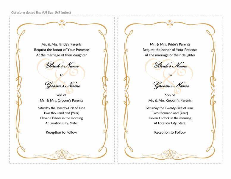 Microsoft Office Invitations Templates Microsoft Word 2013 Wedding Invitation Templates