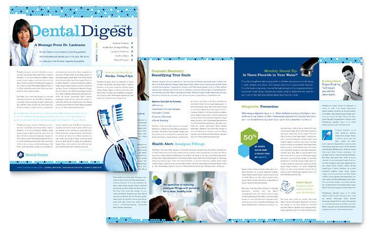 Microsoft Office Newsletter Templates Dentistry & Dental Fice Newsletter Template Word