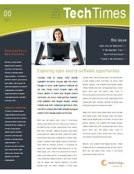 Microsoft Office Newsletter Templates Eco Business Newsletter Template