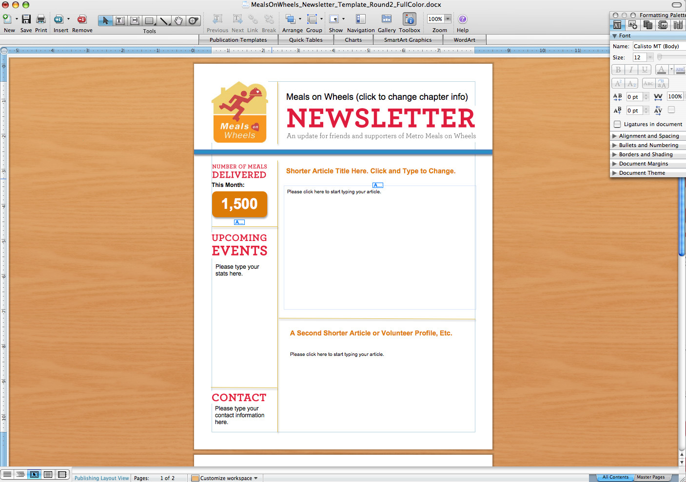 Microsoft Office Newsletter Templates Microsoft Word Newsletter Templates