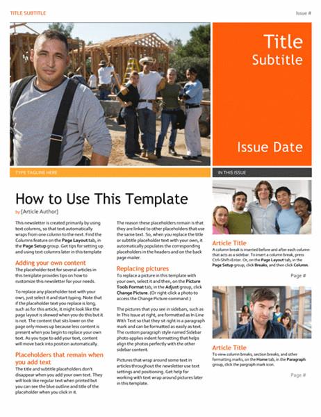 Microsoft Office Newsletter Templates Newsletter