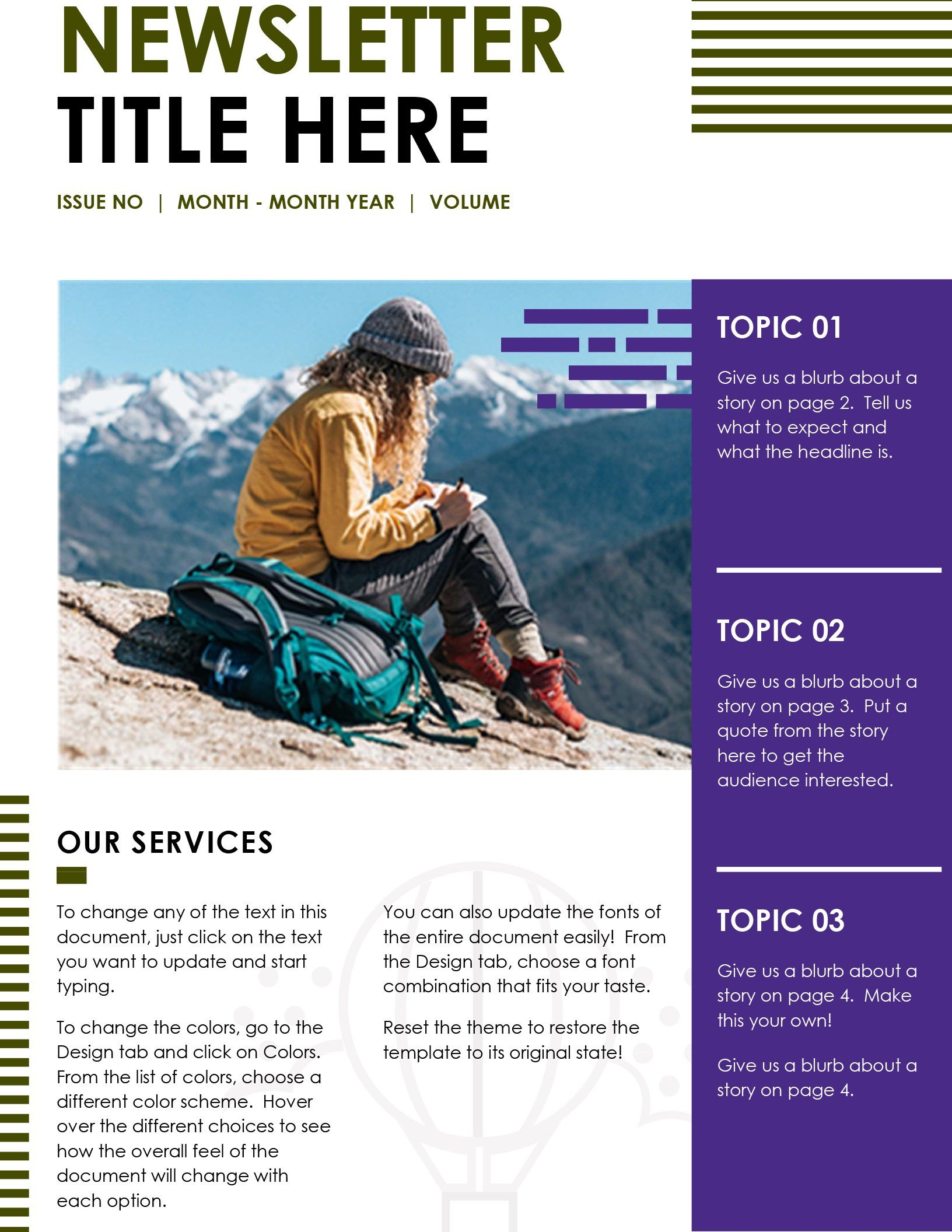 Microsoft Office Newsletter Templates Newsletters Fice