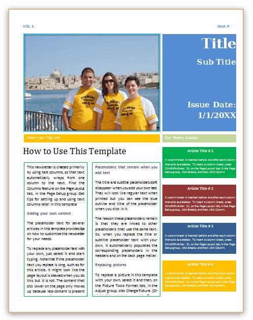 Microsoft Office Newsletter Templates Save Word Templates