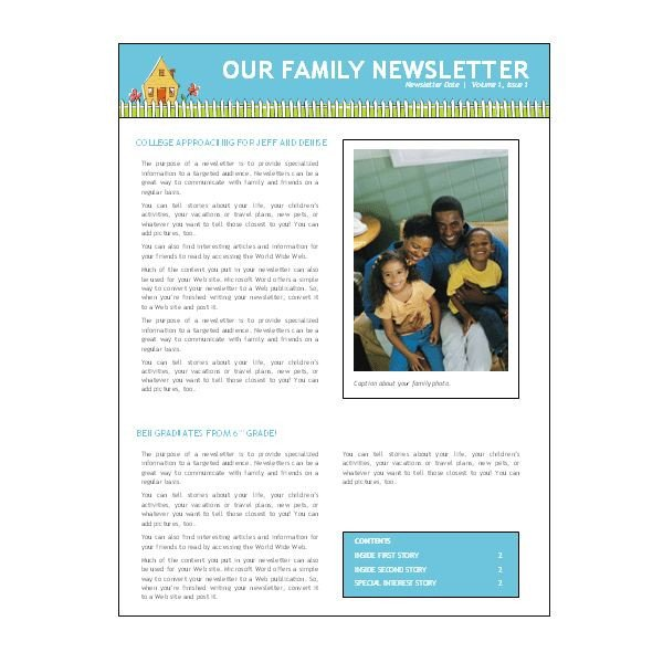 Microsoft Office Newsletter Templates where to Find Free Church Newsletters Templates for