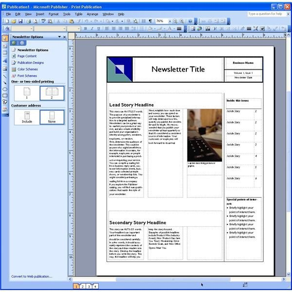 Microsoft Office Publisher Templates Dynamic Reusable Newsletter Template Defined