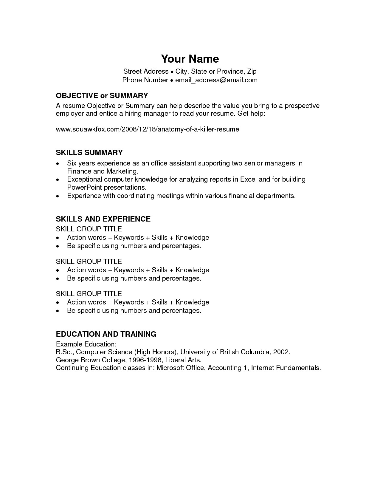 Microsoft Office Templates Resume Microsoft Fice Resume Templates