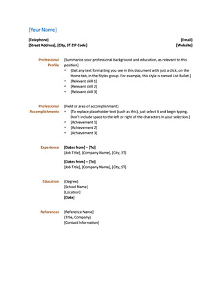 Microsoft Office Templates Resume Simple Resume Fice Templates