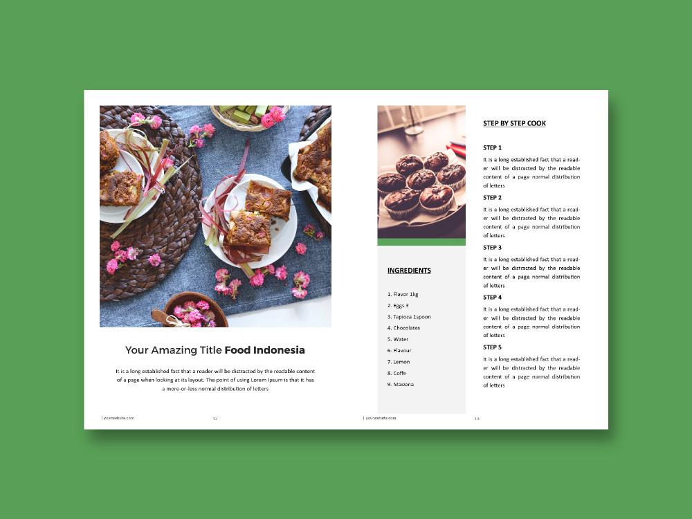 Microsoft Publisher Book Template Recipe Book Microsoft Publisher Template On Behance