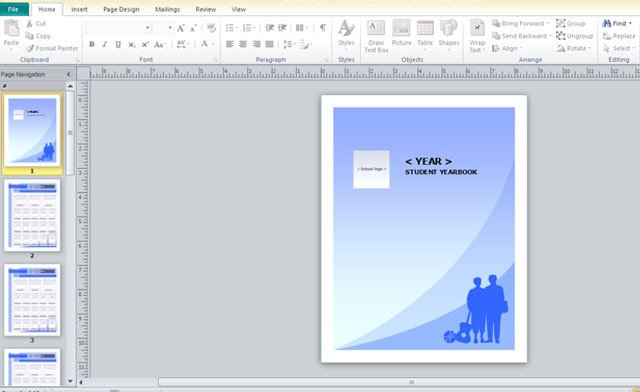 Microsoft Publisher Book Template Yearbook Template for Microsoft Publisher