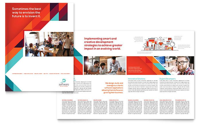 Microsoft Publisher Booklet Templates Application software Developer Brochure Template Word