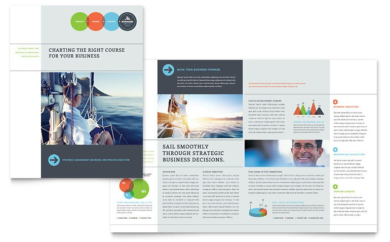 Microsoft Publisher Booklet Templates Business Analyst Brochure Template Word & Publisher