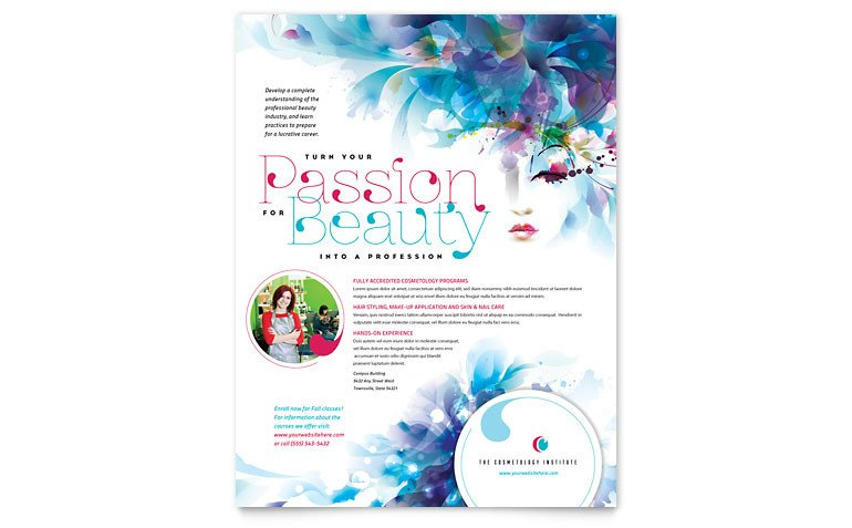 Microsoft Publisher Flyer Templates Cosmetology Flyer Template Word & Publisher