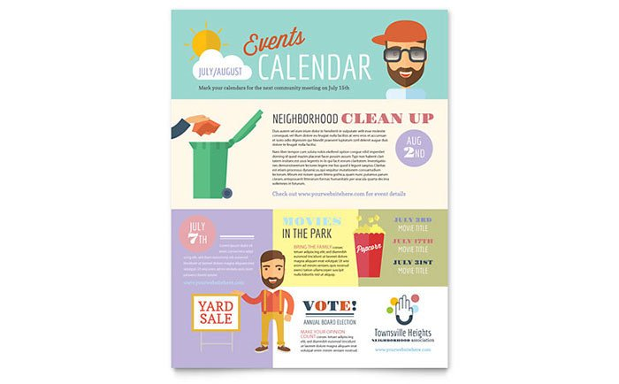 Microsoft Publisher Flyer Templates Homeowners association Flyer Template Word & Publisher