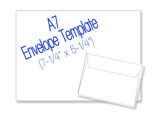 Microsoft Word A7 Envelope Template A7 Envelope 7 1 4 X 5 1 4 Blank by Heritageexpressions On Etsy