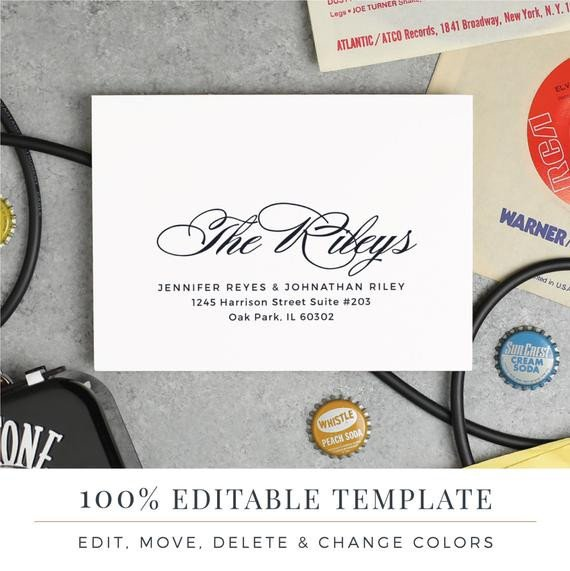 Microsoft Word A7 Envelope Template A7 Envelope Template Printable Wedding Envelope Word or