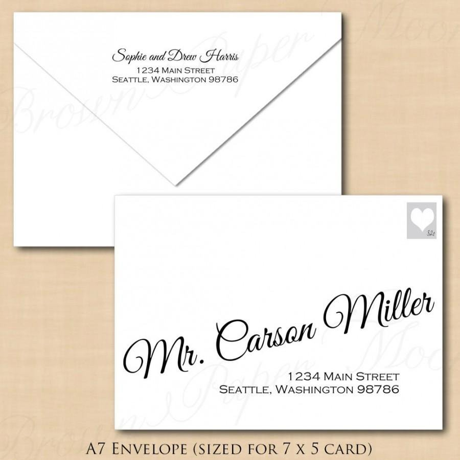 Microsoft Word A7 Envelope Template Change All Colors Calligraphy Address Wedding Envelope