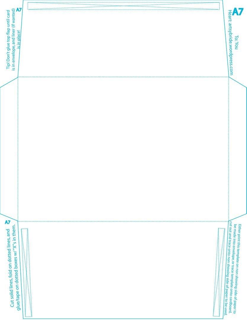 Microsoft Word A7 Envelope Template Diy – Envelopes & Liners