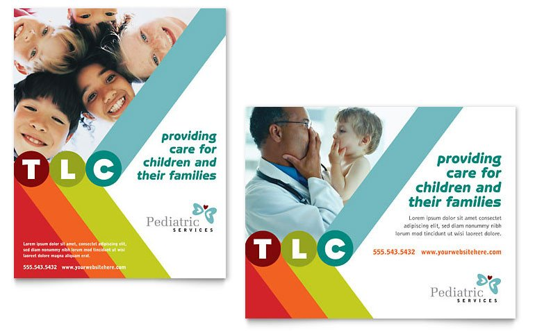 Microsoft Word Banner Template Pediatrician & Child Care Poster Template Word & Publisher