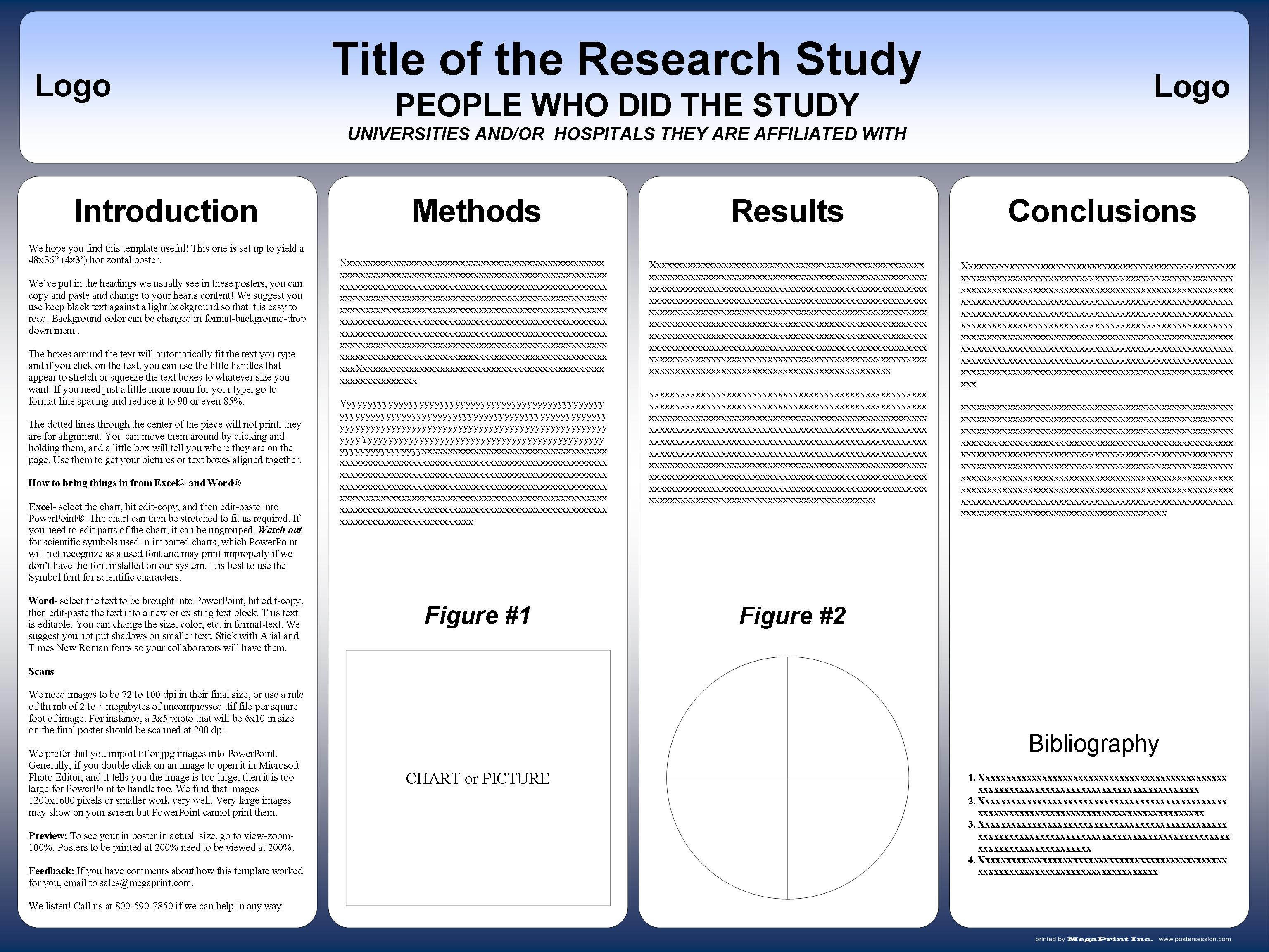 Microsoft Word Banner Template Research Poster Templates