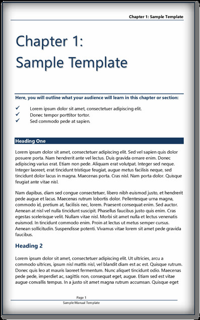 Microsoft Word Book Template Book Template Ms Word & Pdf format