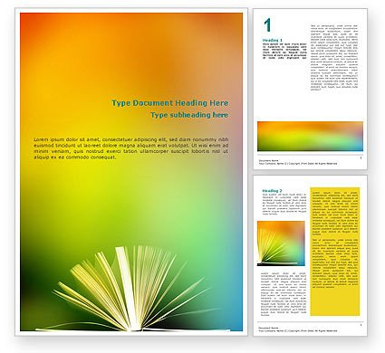 Microsoft Word Book Template Book Word Template
