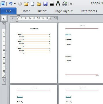 Microsoft Word Book Template Create An E Book Template In Microsoft Word
