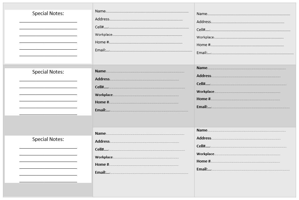 Microsoft Word Book Templates 20 Free Address Book Templates Word Templates