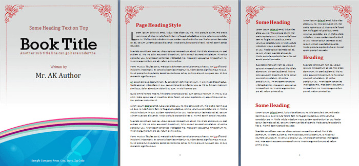 Microsoft Word Book Templates Booklet Template