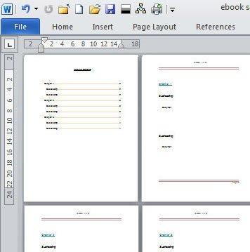Microsoft Word Book Templates Create An E Book Template In Microsoft Word