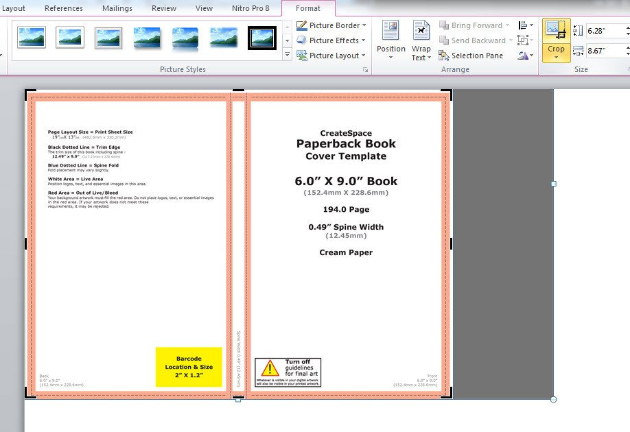 Microsoft Word Book Templates How to Make A Full Print Book Cover In Microsoft Word for