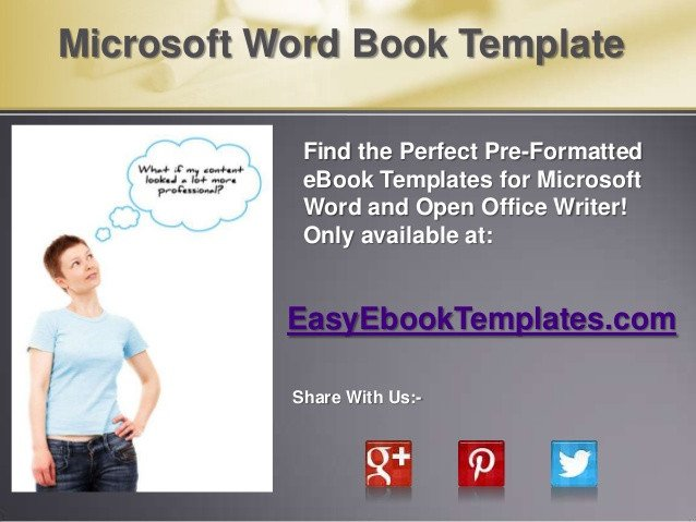 Microsoft Word Book Templates Microsoft Word Book Template
