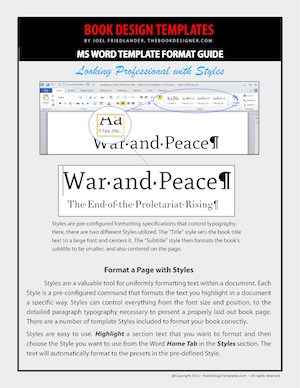 Microsoft Word Book Templates Self Published Books Get A Major Overhaul with