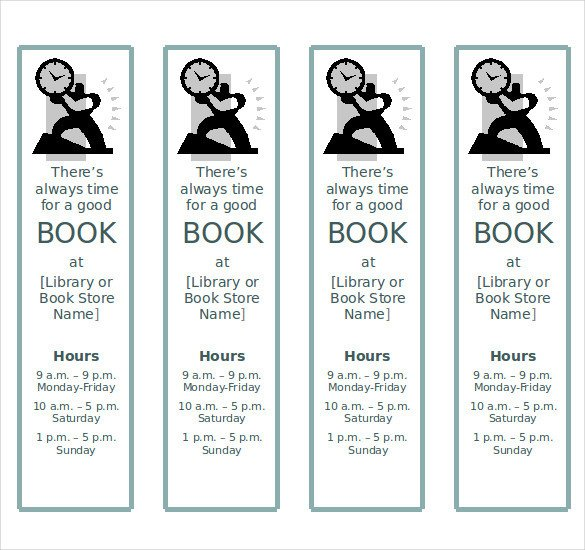 Microsoft Word Bookmark Template 8 Word Bookmark Templates Free Download