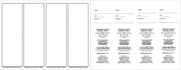 Microsoft Word Bookmark Template Bookmark Templates Design Your Bookmarks In Style for