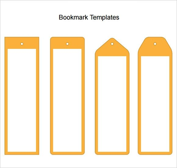Microsoft Word Bookmark Template Sample Blank Bookmark 6 Documents In Pdf Word
