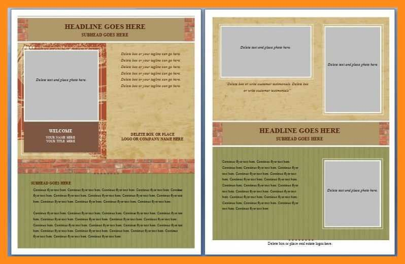 Microsoft Word Brochure Template Free 12 13 Microsoft Word Handout Templates