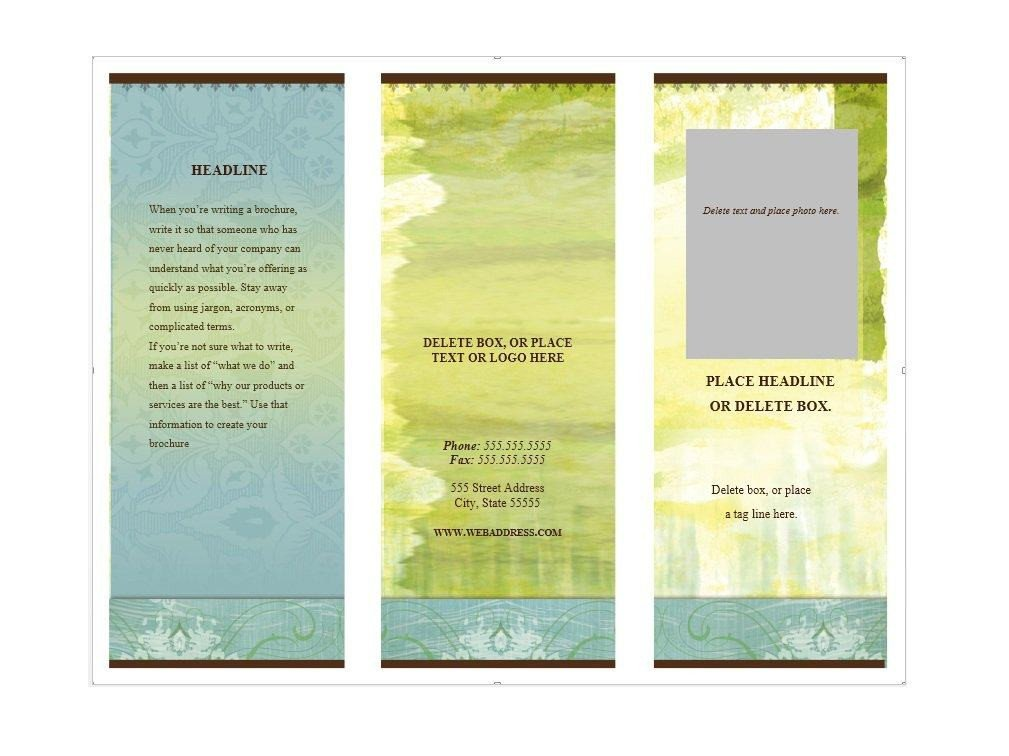 Microsoft Word Brochure Template Free 31 Free Brochure Templates Ms Word and Pdf Free