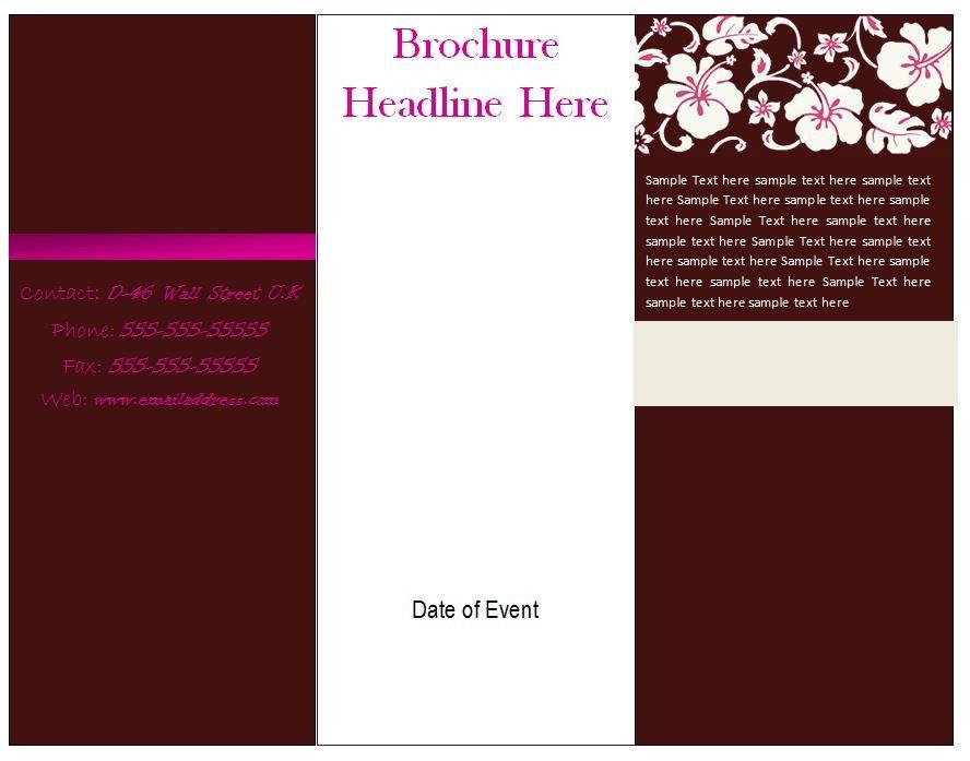 Microsoft Word Brochure Template Free Free Brochure Template