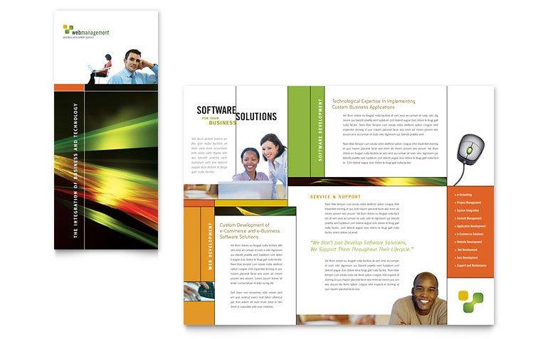 Microsoft Word Brochure Template Free Internet software Brochure Template Word & Publisher