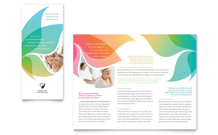 Microsoft Word Brochure Template Free Marriage Counseling Tri Fold Brochure Template Design