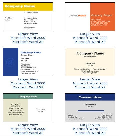 Microsoft Word Business Card Template Microsoft Word Business Card Template