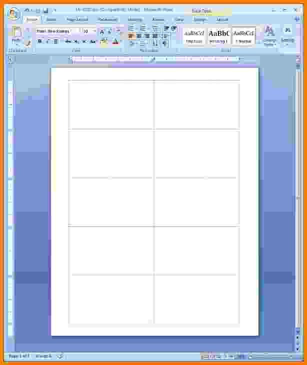 Microsoft Word Card Template 8 Blank Business Card Template Word