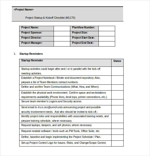 Microsoft Word Checklist Template 34 Word Checklist Templates