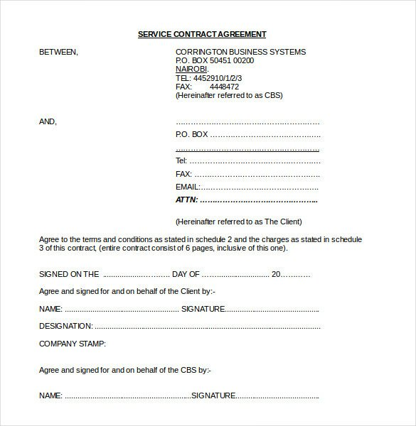 Microsoft Word Contract Template 24 Contract Agreement Templates – Word Pdf Pages