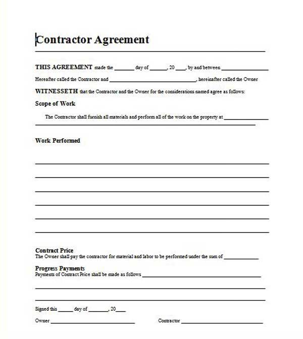 Microsoft Word Contract Template Contract Templates Microsoft Word Templates