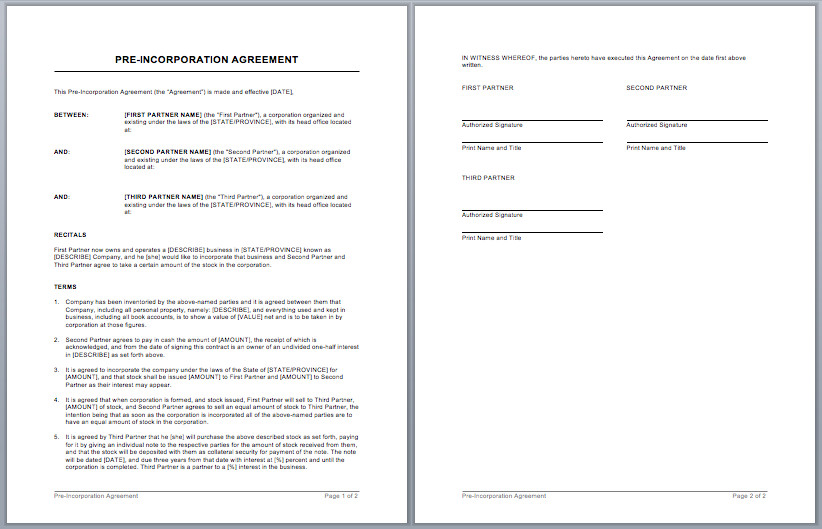 Microsoft Word Contract Template Contract Templates – Microsoft Word Templates